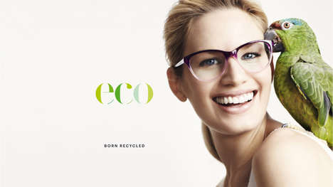 Contemporary Recycled Eyewear - Eco Optics Offers Chic Styles That Are Made From Recycled Materials