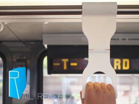 Hygienic Public Transit Handles