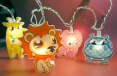 Zoo-Inspired Hanging Lights - Decorate Your Kid's Room with a Wild Feel Using Animal String Lights
