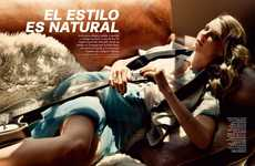 Modern Boho Fashion - The S Moda 'El Estilo Es Natural' Editorial Stars Model Angela Lindvall