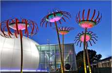 Whimsical Botanical Street Lights