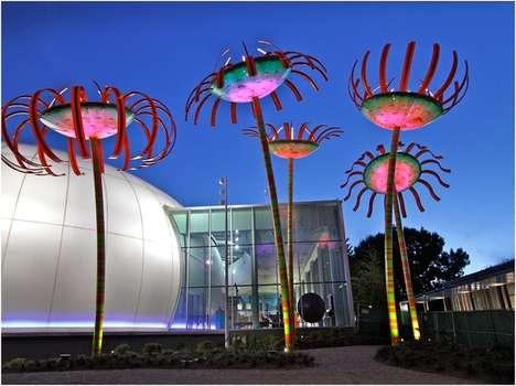 Whimsical Botanical Street Lights