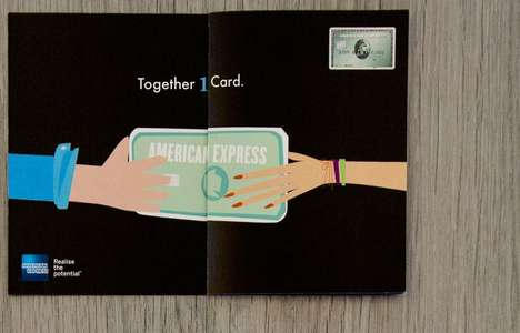 Card-Doubling Ads - This American Express Promotion Doubles Up After You Tug on the Pages