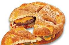 Massive Pizza Burger Hybrids - The 'Megaburgerpizza' Creatively Uses a Pizza as a Burger Bun