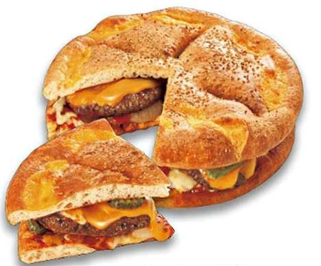 Massive Pizza Burger Hybrids
