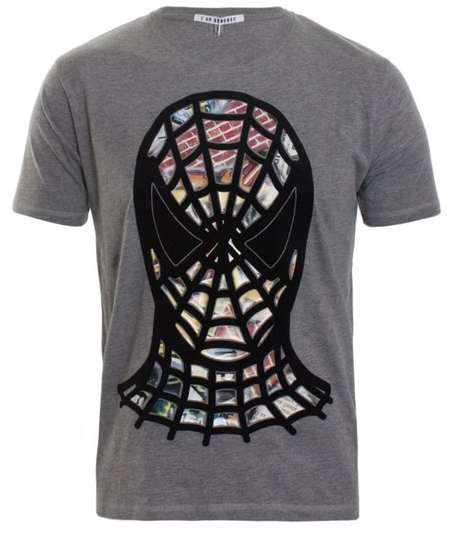 Masked Superhero Apparel - Patrol the Night in the Spiderman Graffiti T-Shirt by I Am Generic