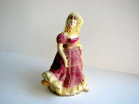 Honeycombed Porcelain Figurines