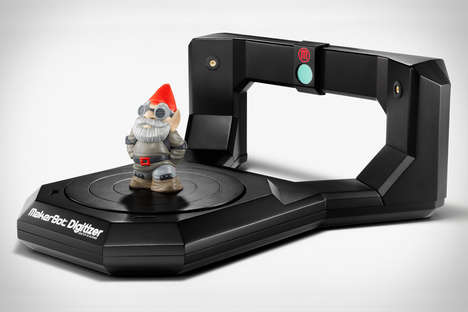 Digital 3D Photocopiers - The Makerbot Digitizer Scans Items for Making a 3D-Printed Copy