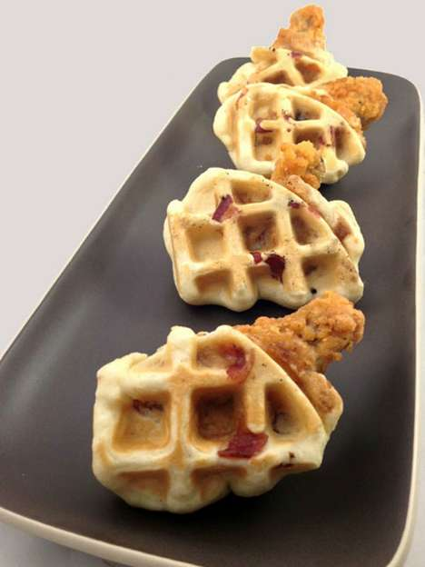 Waffle-Infused Chicken Wings