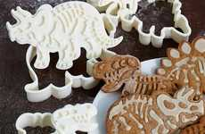 Prehistoric Cookie Cutters - The Dig-Ins Dinosaur Fossil Cutters are a Cute Way to Eat Cookies