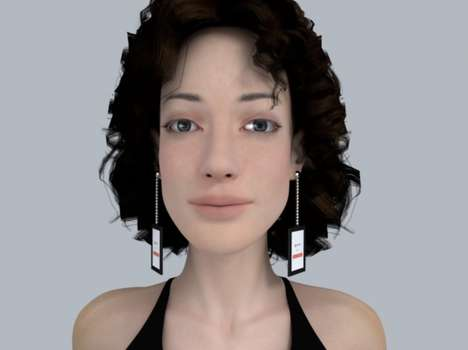 High Tech Video Earrings - These Prototypes from MJ McLaren Play a Variety of Videos from Your Ears
