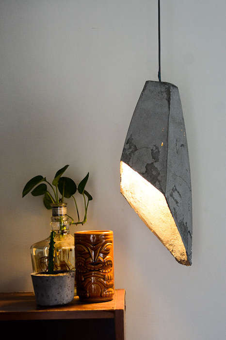 DIY Concrete Illuminators - This Hanging Concrete Lamp Will Add an Industrial Appeal to any Room