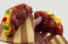 Porky Mexican-Inspired Breakfasts - The Bacon Weave Taco Improves a Timeless Food Design