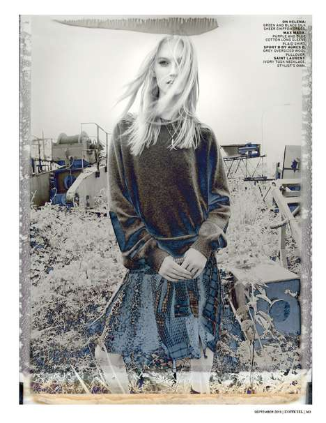 Youthful Grunge Fashion - The L'Officiel Singapore Photoshoot Stars Helena Grey