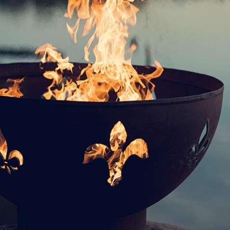 Monarchist Fire Pit Art