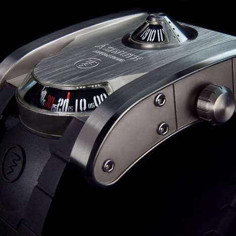 Sleek Monolithic Timepieces - This Azimuth Watch Imitates Tanks to Intimidate Viewers