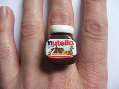 Hazelnut Spread Jewelry - This Nutella Ring is an Homage to the Chocolate Condiment