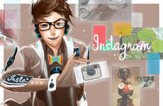 Personified Social Network Art - Jon Lock Imagines Social Media Sites as Human Characters