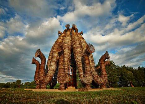 Gigantic Weaved Sculptures