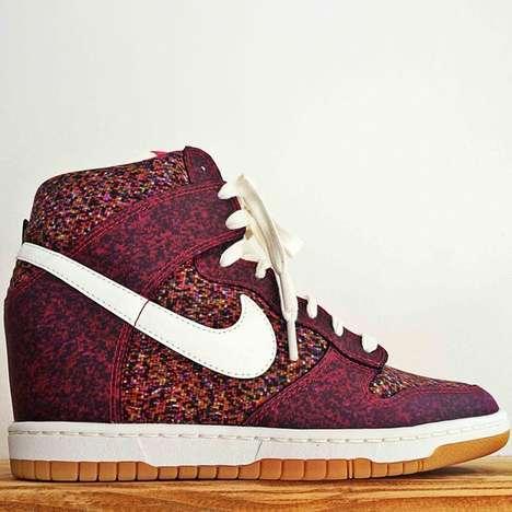 Pixelated Sneaker Heels