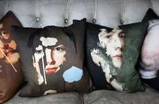 Fragmented Face-Revealing Pillows - Mineheart's Pillows with Faces Seem to Be Wearing Away