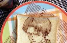 Japanese Toast Art - These Detailed Toast Anime Designs were Uploaded via Twitter by Hittomii