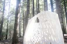 Enchanting Biodegradable Structures - The Echoviren Pavilion Will Decompose in Less Than 50 Years