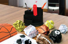 Sport Equipment-Making Notebooks - The Crumple Ball Notepad Makes Throwing Away Paper a Sport