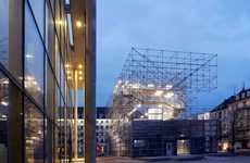 Temporary Scaffolding Museums - The Schaustelle Pavilion Will Be Home to Museum Installations