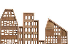 Urban Landscape Decor - The 3-Piece Row House Set from CB2 Brings the Cityscape Indoors