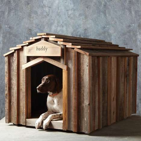 Rustic Upcycled Dog Houses - The 'Reclaimed Wood Dog House' Keeps Your Dog Eco-Friendly