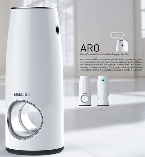 Manipulative Air Purifiers - The 'Aro' Scented Purifier Changes Your Emotions by Releasing Aromas