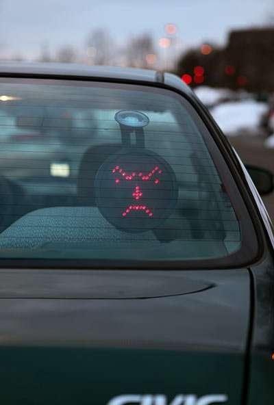Emotive LED Car Signs