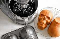 Ghastly Halloween Treat Molds - This Skull Cake Pan Makes Perfectly Spooky 3D Confections