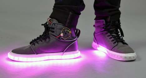 DIY LED High-Tops - Light Up Sneakers Will Jolt Up Your Ensemble with Electricity