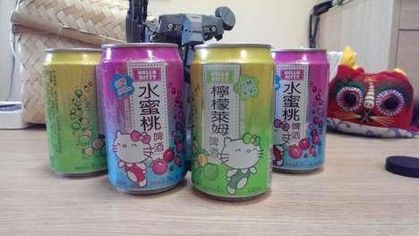 Girly Cartoon-Based Alcohol
