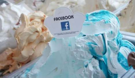 Social Media Ice Cream - The Facebook Ice Cream Flavor is a Clever Twist on a Classic Dessert