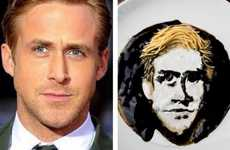 Celebrity Noodle Portraits - Sarah King's Celebrity Noodle Art Brilliantly Uses Kabuto Noodles
