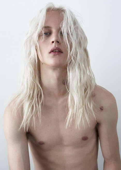 Platinum-Haired Surfer Portraits