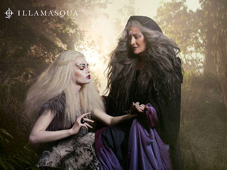 Occult-Inspired Cosmetic Ads - The Sacred Hour Collection by Illamasqua Launches in Fall