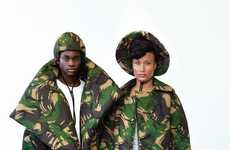 Quilted Camouflage Outerwear