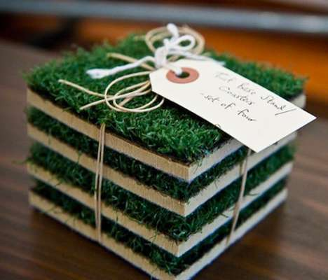 These Turf Base Coasters Allow You to Bring the Field Home