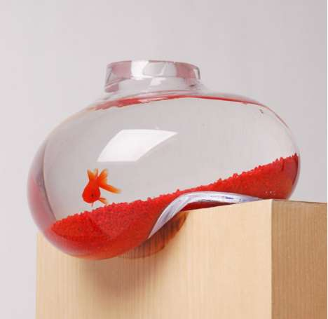 Bizarrely Bent Fish Tanks - The 'Bubble Tank' by 'Psalt Design' Has a Surreal Look