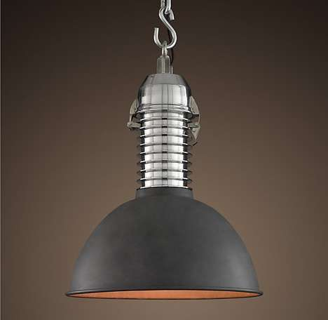 Vintage Industrial Lights - The '1950s Shop-Floor Pendant' is a Beautifully Restored Vintage Light