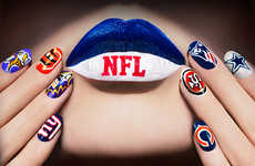 NFL-Inspired Nail Designs - COVERGIRL Celebrates the Return of the NFL With Football Nails
