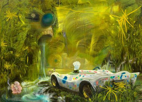 Velocity-Inspired Abstract Art