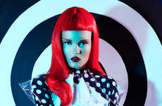 Electric Mime-Inspired Editorials
