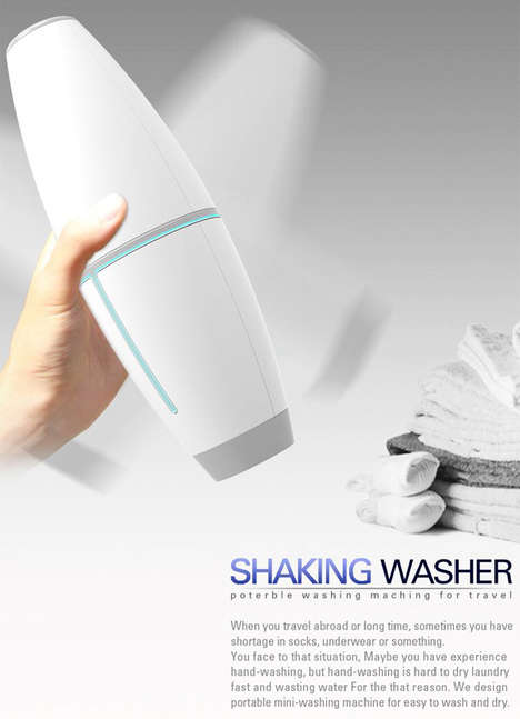 Shake-Powered Portable Washers - The Shaky Wash Washes Clothes While Saving Energy and Water