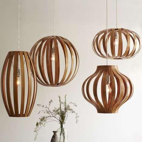 Wooden Oblong-Shaped Lighting
