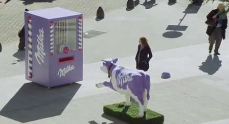 The Milka Vending Machine Releases Treats When Hands are Held